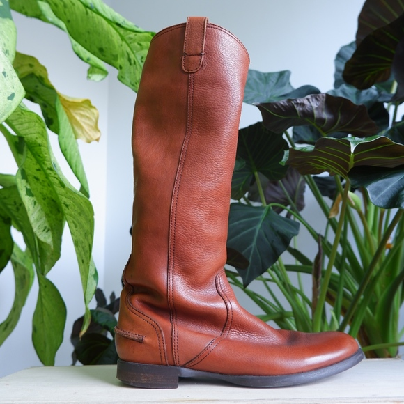 926238baf563f MADEWELL Archive Cognac Leather Riding Boots